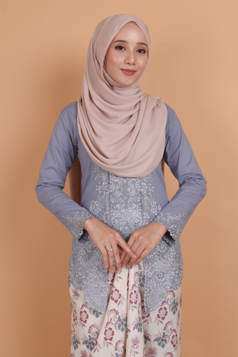 Kebaya Kesuma - Lilac Blue (Top only)
